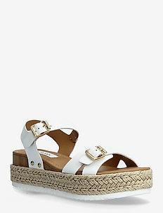 Cam Sandal (no size 42) - flade espadrillos - white leather