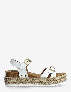 Cam Sandal (no size 42) - flache espadrilles - white leather