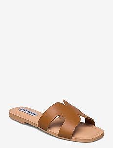 Zarnia Sandal - flache sandalen - cognac leather