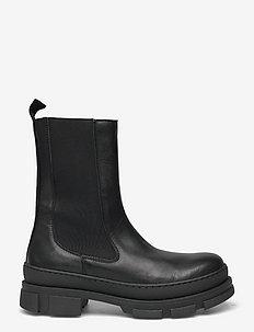 Filina Bootie - flache stiefeletten - black leather