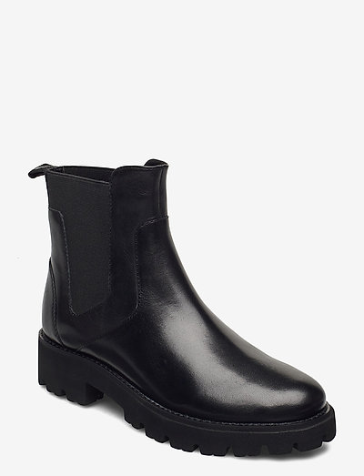 Gracey Bootie - chelsea boots - black leather