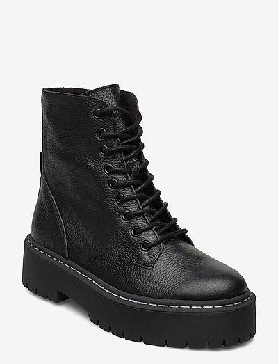 Skylar Bootie - platta ankelboots - black leather