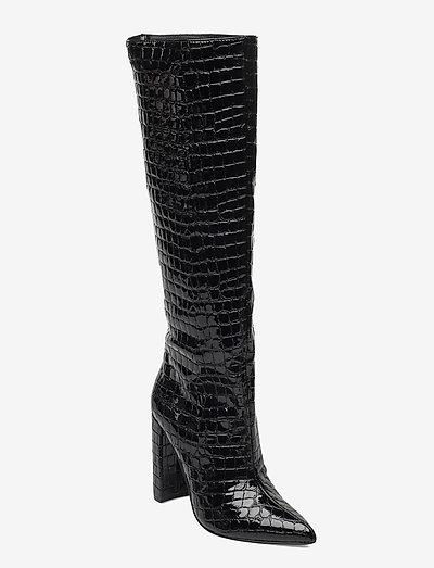 Tamsin Boot - höga stövlar - black croco