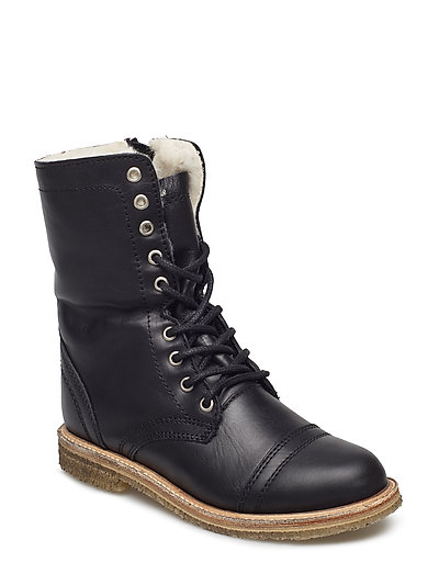 Tossup Ankle Boot - BLACK LEATHER