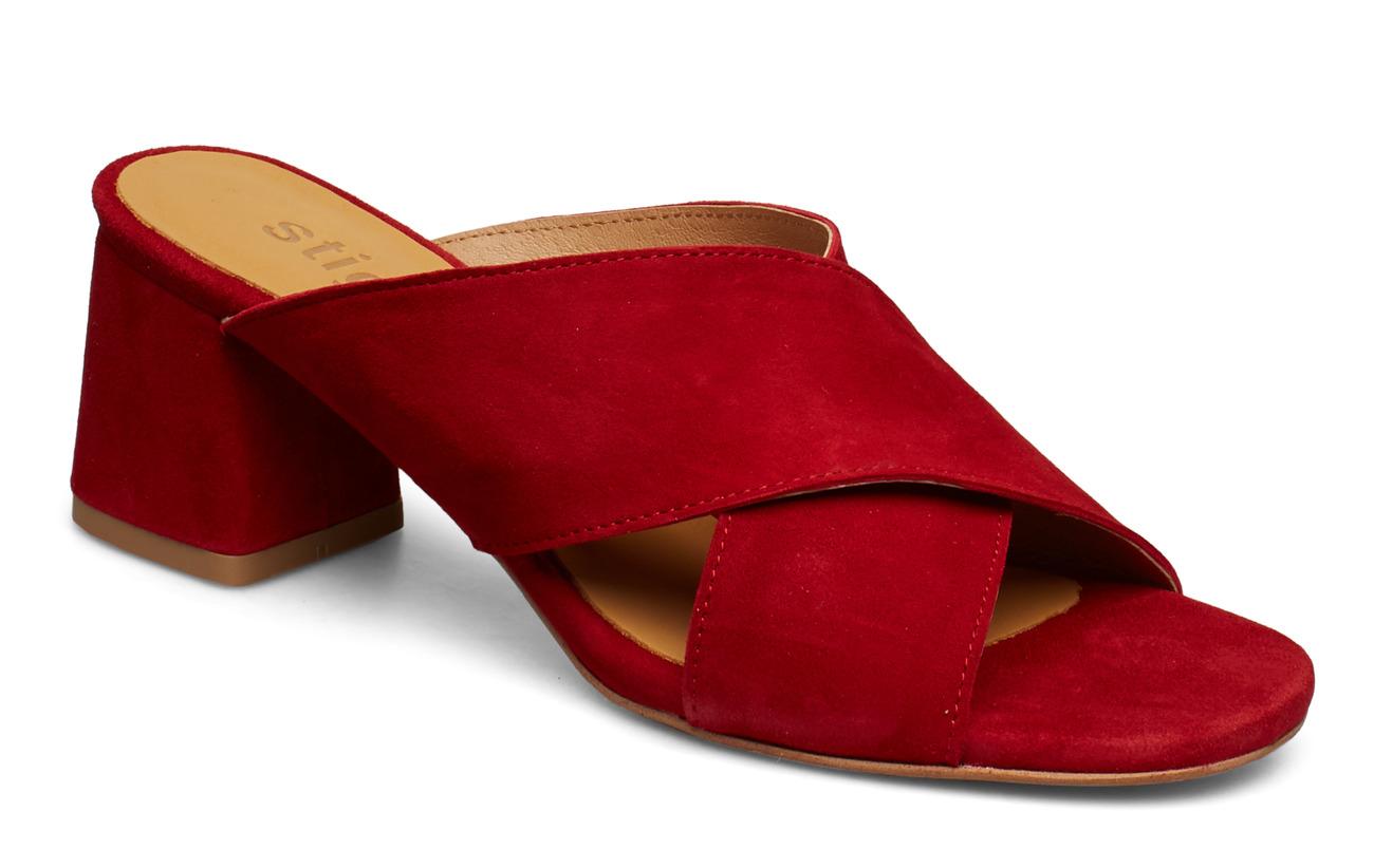 Stig P Jasmin Suede slip on sandal - 40 RED