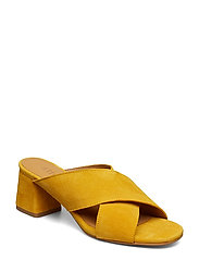 Jasmin Suede slip on sandal - 24 YELLOW