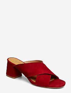 Jasmin Suede slip on sandal - 40 RED