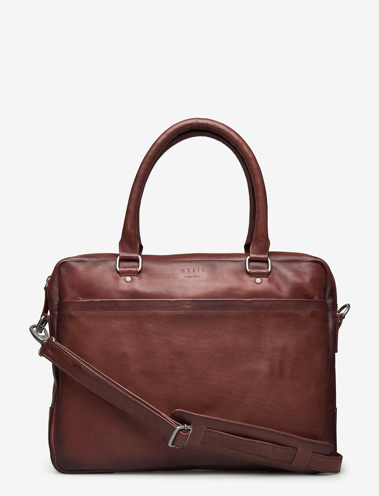 Still Nordic - Tommy Brief 1 Room - briefcases - brown - 0