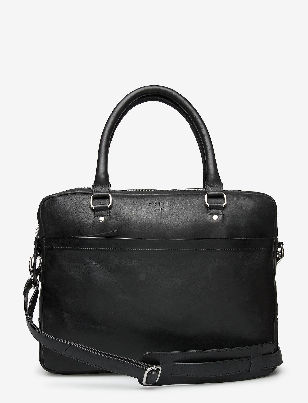 Still Nordic - Tommy Brief 2 Room - briefcases - black - 0