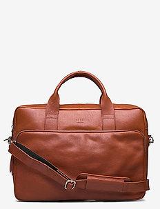 Train Brief 1 Room - laptoptaschen - cognac