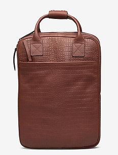 Dundee Backpack w/croco - rugzakken - brown croco
