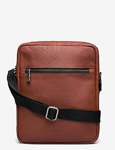 Clean Zip Messenger - sacs à bandoulière - cognac