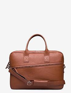 City Brief 2 Room - briefcases - cognac