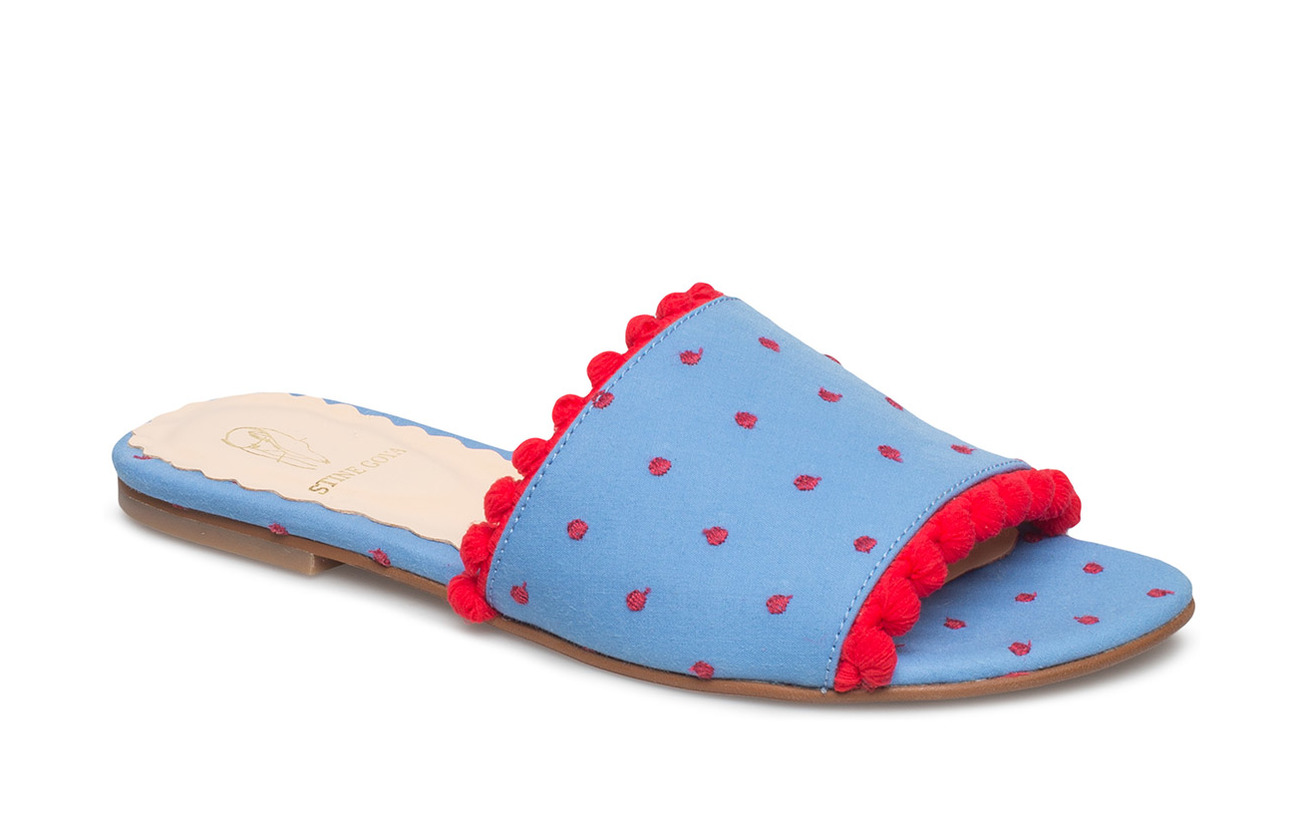 STINE GOYA Seya, 405 Pompom shoes - BLUE DOTS