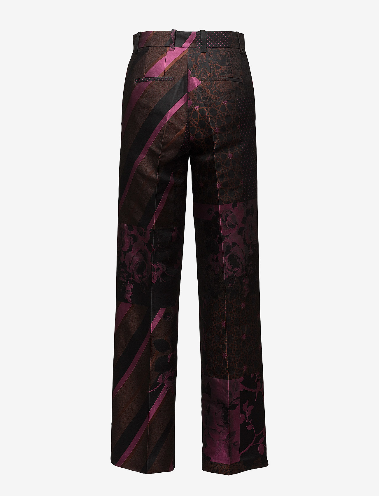STINE GOYA - Sonia, 389 Collage Tailored - leveälahkeiset housut - collage rust