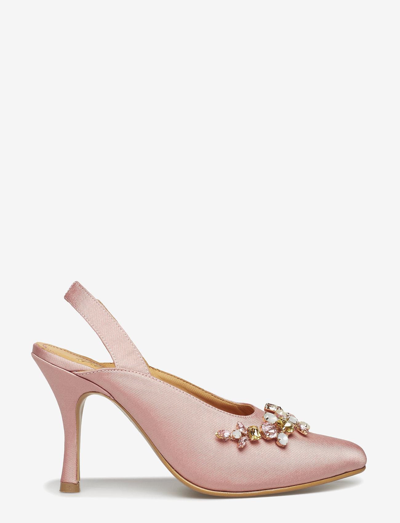 Lucia, 460 Satin Pumps (Pink) - STINE GOYA