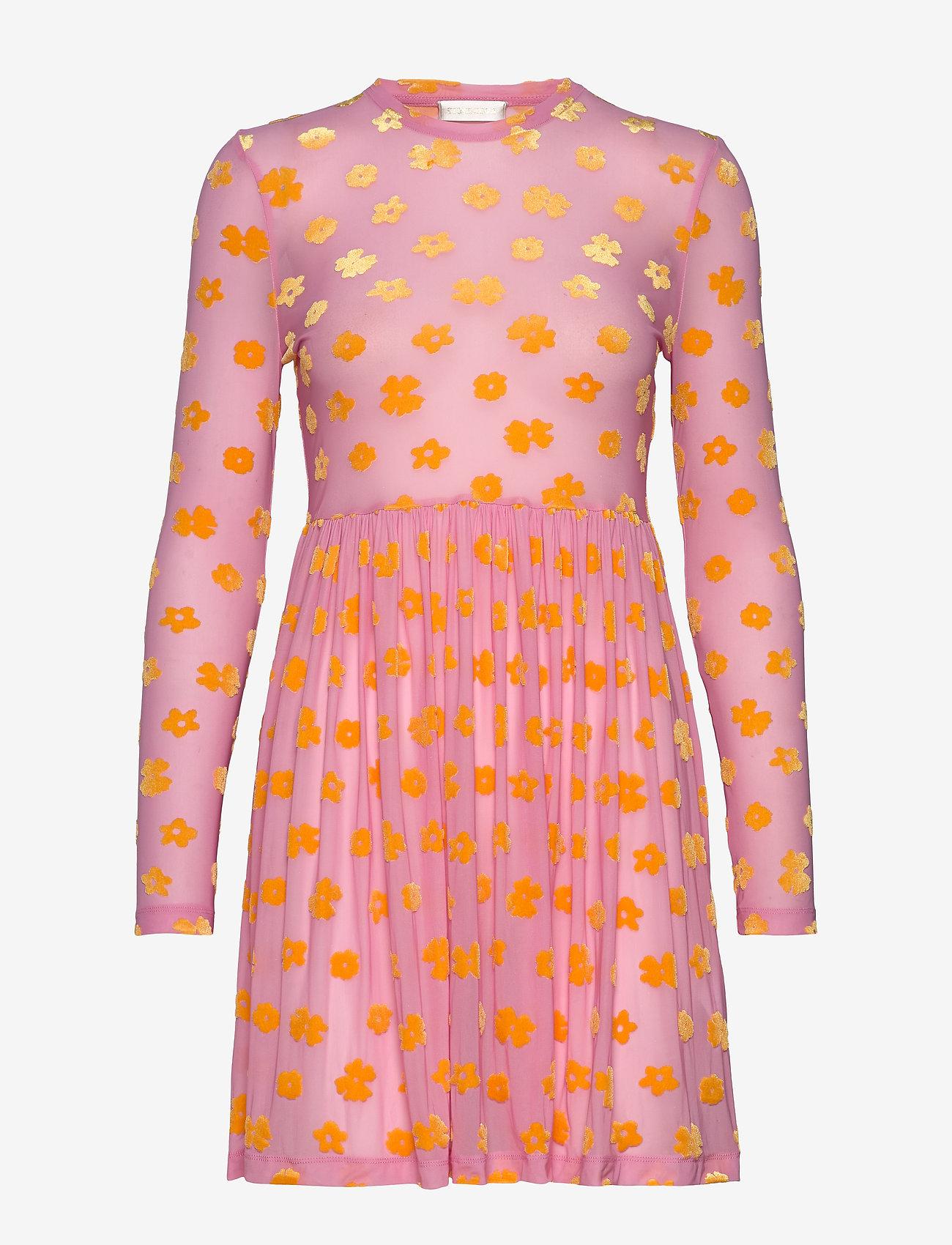 STINE GOYA - Juliana, 773 Velvet Devore - festkjoler - daisy pink - 0
