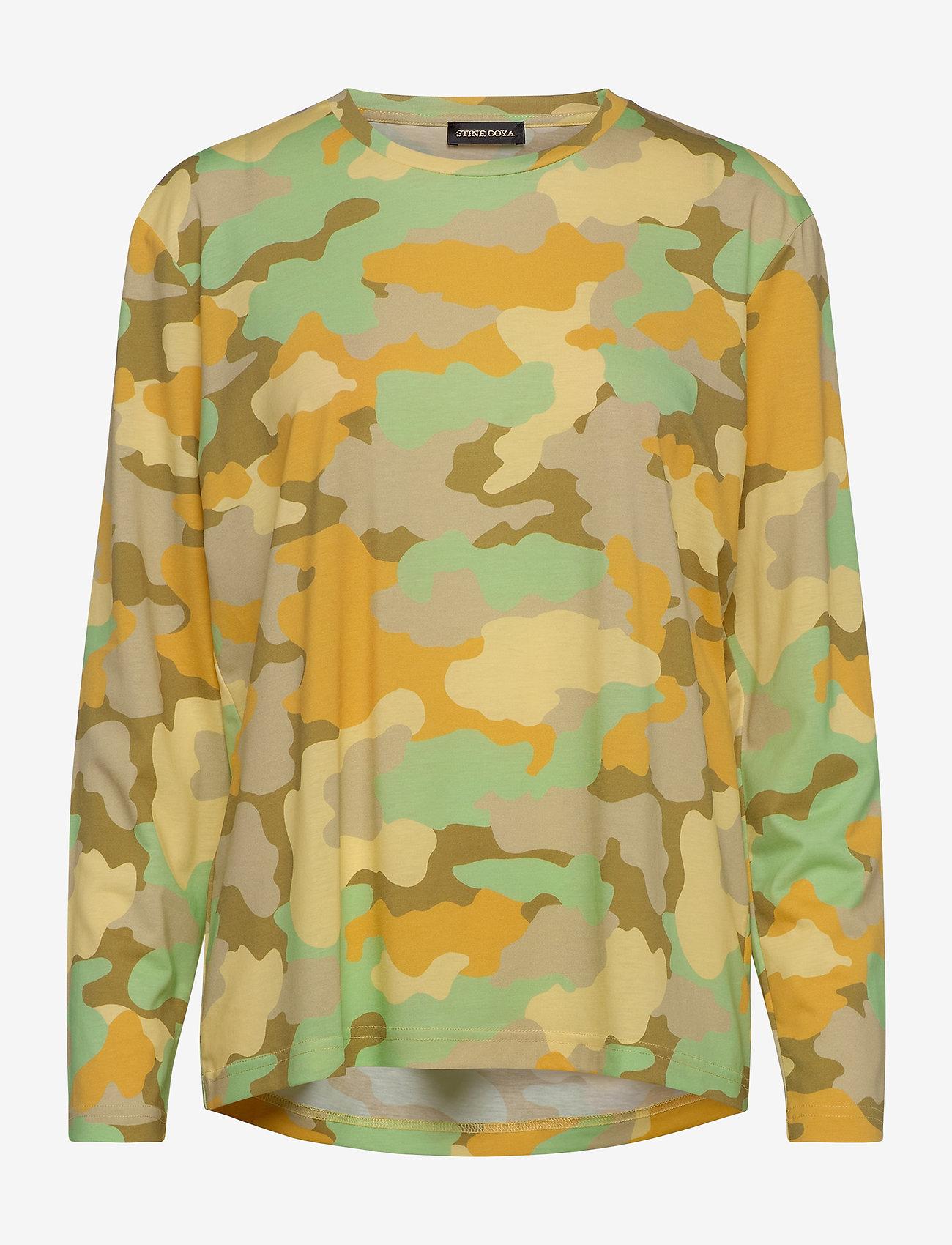 STINE GOYA - Caleb, 840 Allover Tee - långärmade toppar - camouflage green - 0