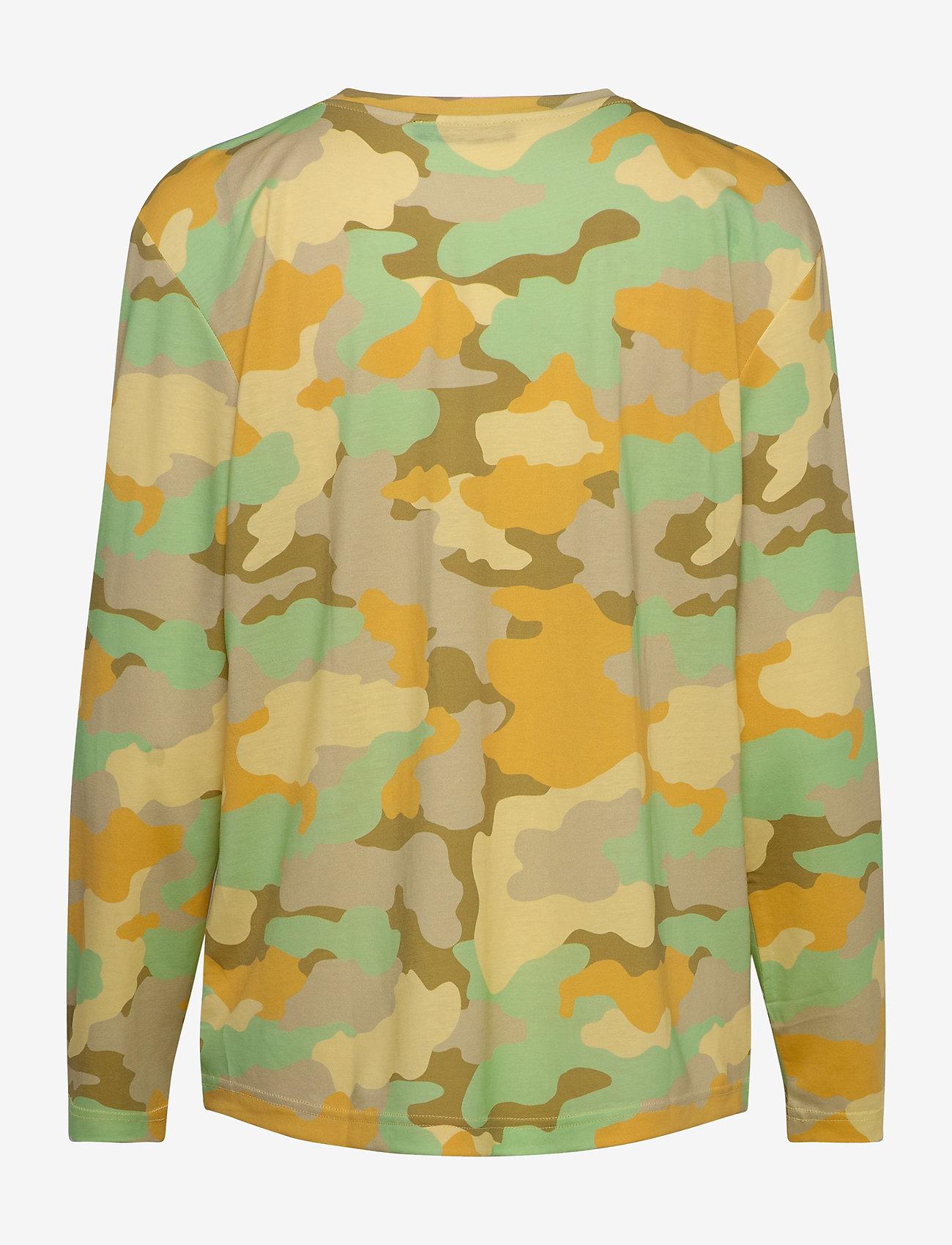 STINE GOYA - Caleb, 840 Allover Tee - långärmade toppar - camouflage green - 1