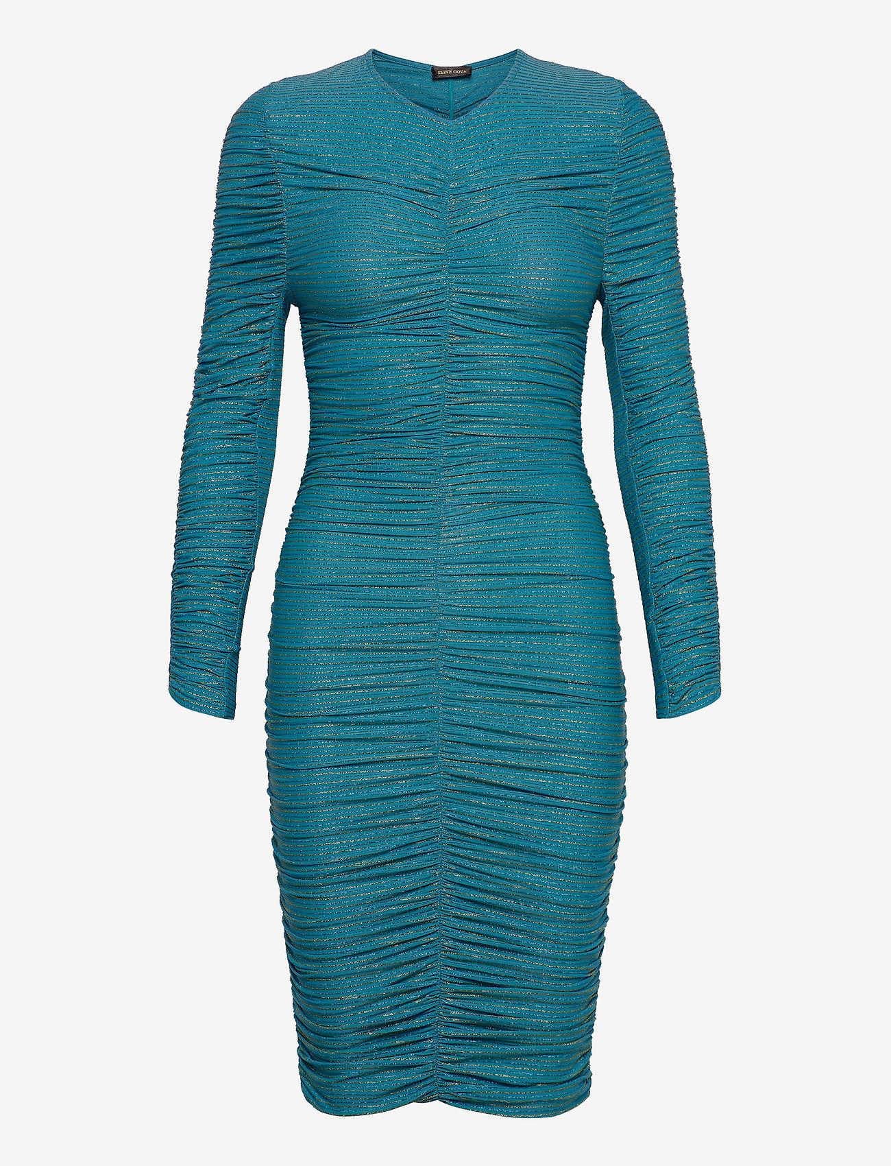 STINE GOYA - Blake, 850 Glitter Jersey - stramme kjoler - turquoise - 0
