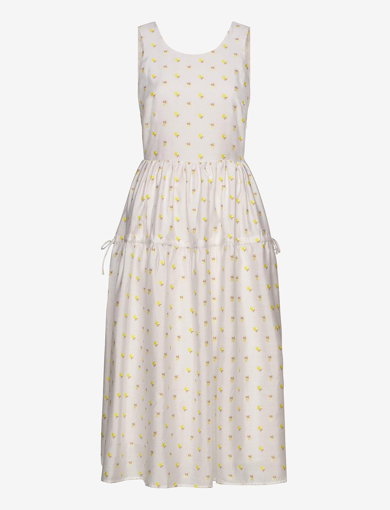 STINE GOYA - Tulula, 880 Jasmine Taffeta - midi kjoler - jasmine white - 0