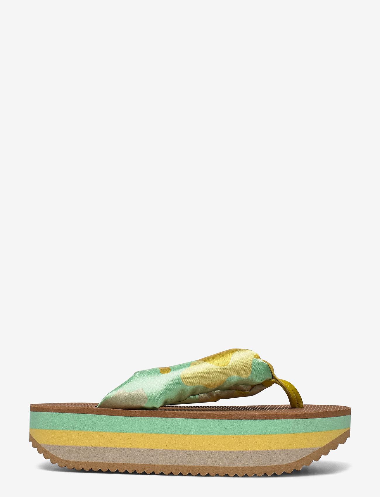 STINE GOYA - Trine, 889 Trine Sandals - płaskie sandały - camouflage green - 1
