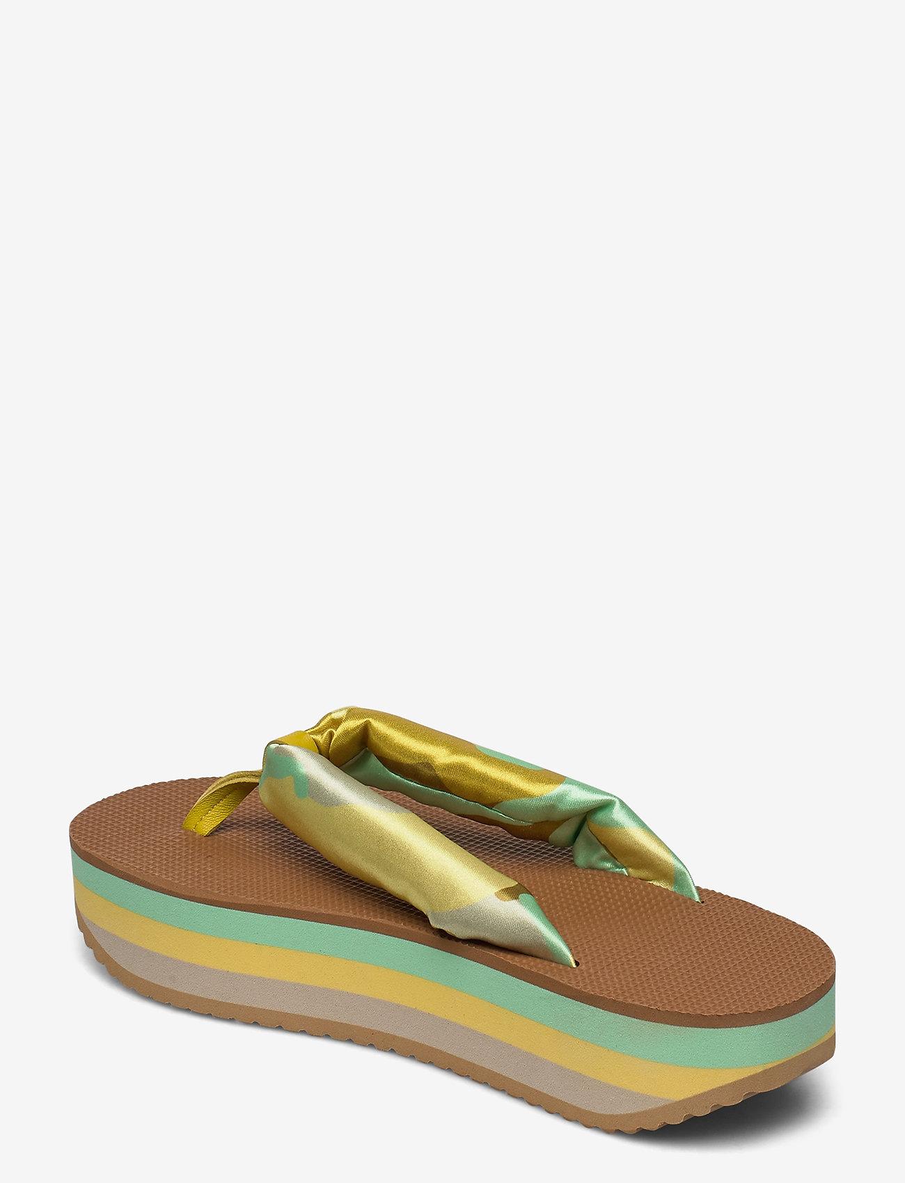 STINE GOYA - Trine, 889 Trine Sandals - flade sandaler - camouflage green - 2