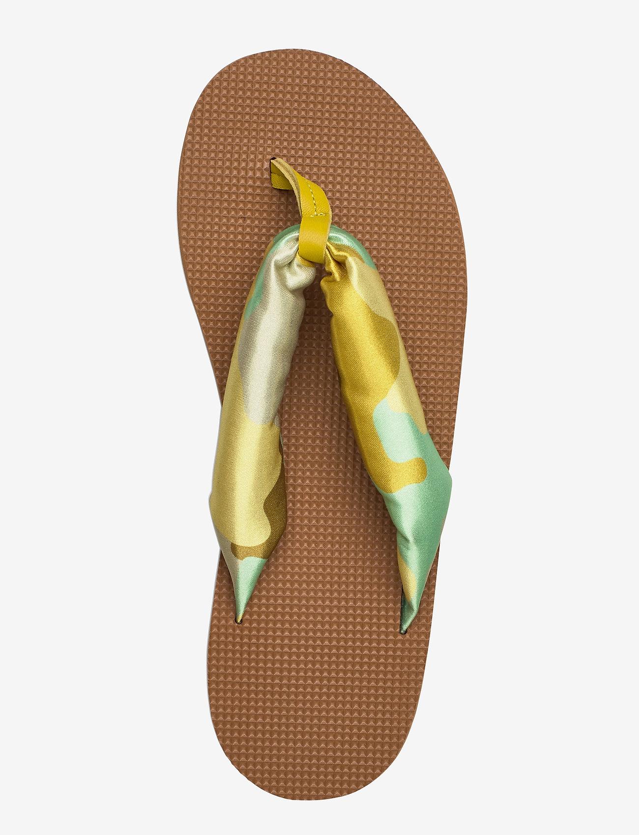STINE GOYA - Trine, 889 Trine Sandals - flade sandaler - camouflage green - 3