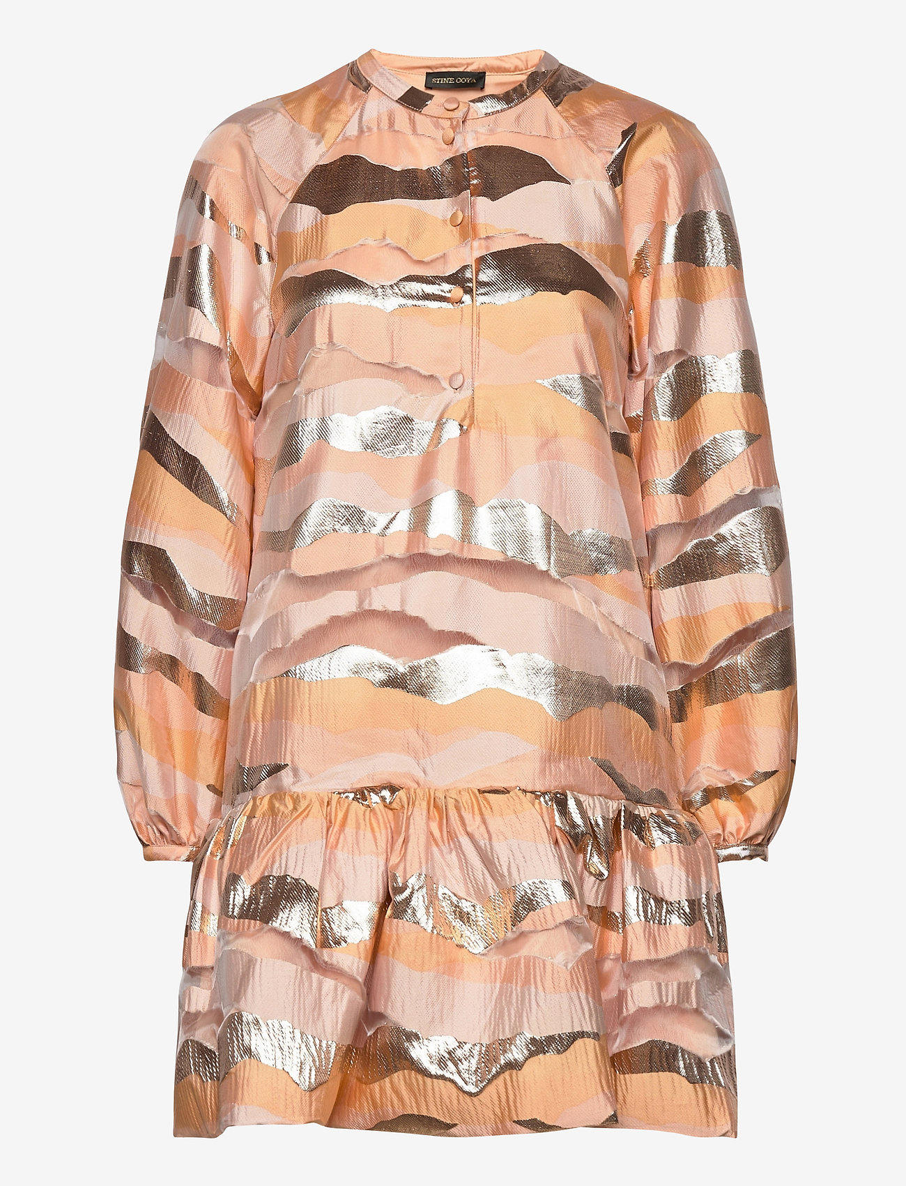 STINE GOYA - Josefine, 923 Organza - korte kjoler - horizon gold - 0