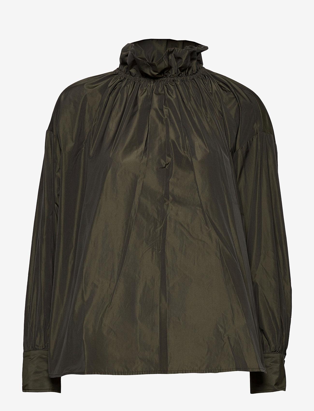 STINE GOYA - Ines, 924 Taffeta - langærmede bluser - seaweed green - 0