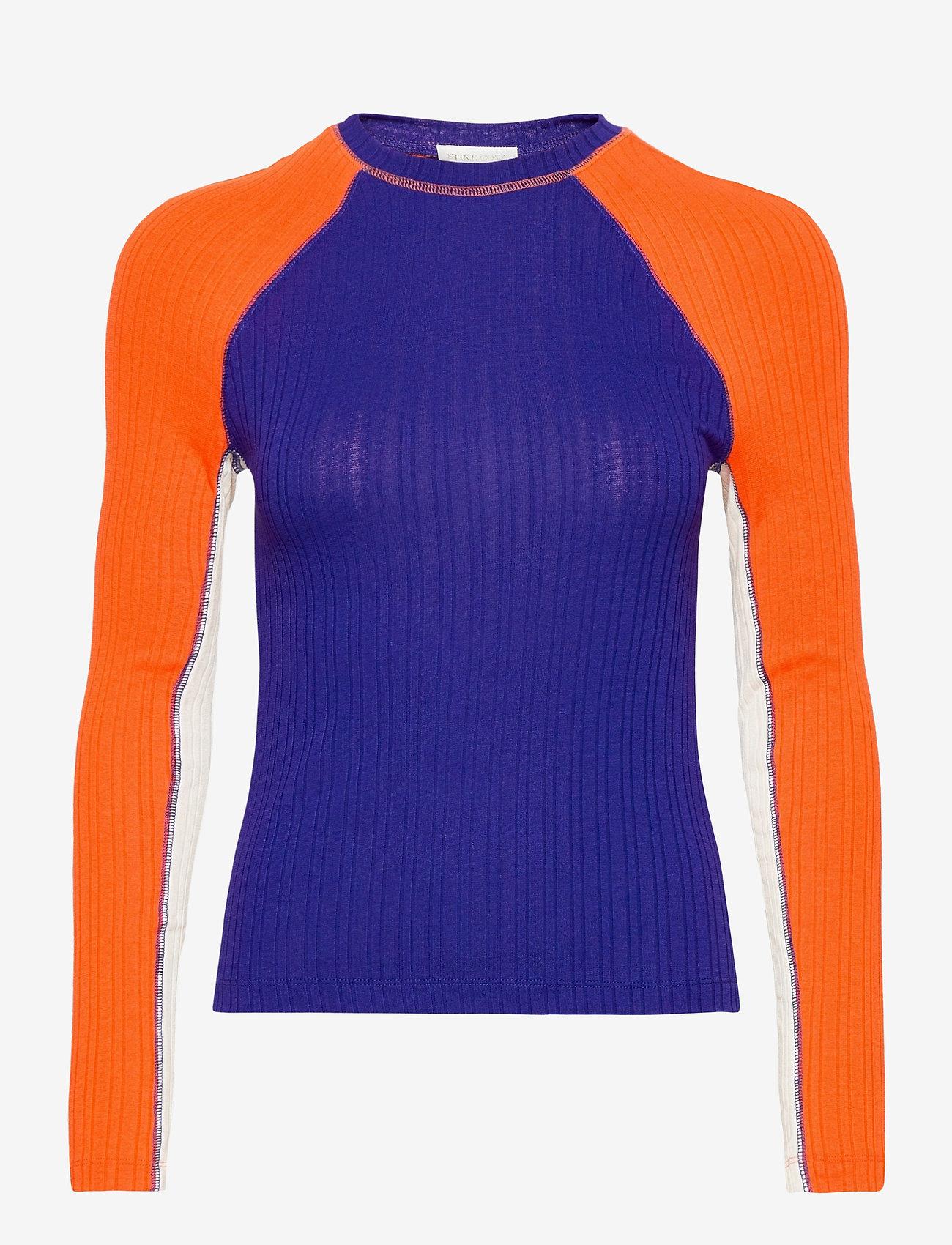 STINE GOYA - Samara, 1044 Rib T-shirt - långärmade toppar - royal mix - 1