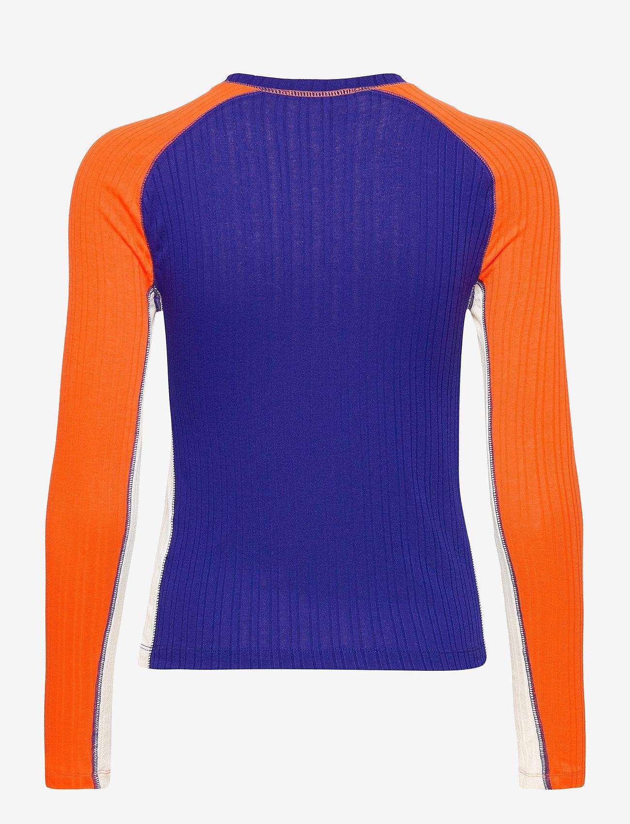 STINE GOYA - Samara, 1044 Rib T-shirt - långärmade toppar - royal mix - 2