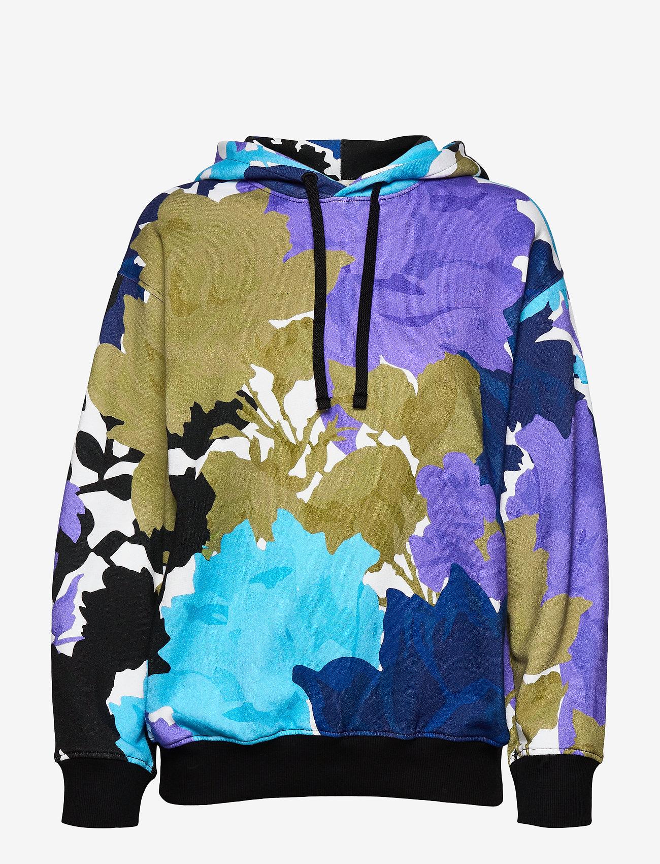 STINE GOYA - Adrisa, 1080 Hoodie - sweatshirts & hættetrøjer - rosegarden blue - 1