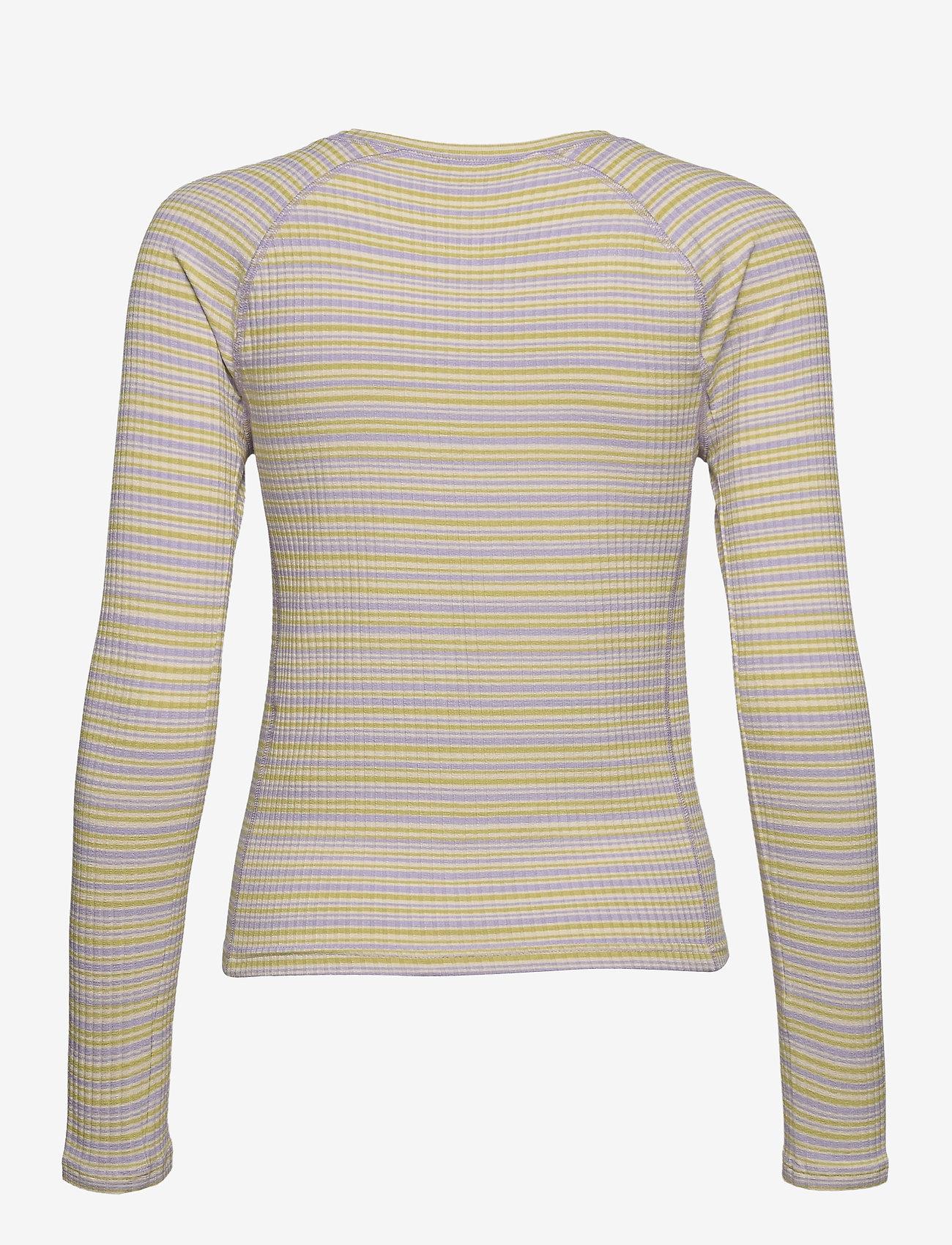 STINE GOYA - Samara, 1084 Rib Jersey - langærmede toppe - iris stripes - 2