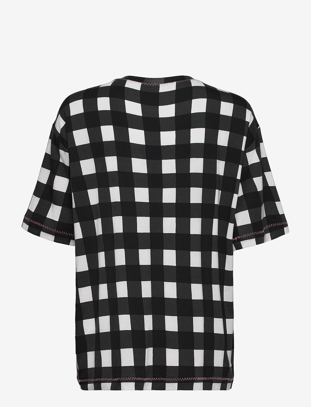 STINE GOYA - Boris, 1003 Drapy Jersey - t-shirts - gingham black - 2