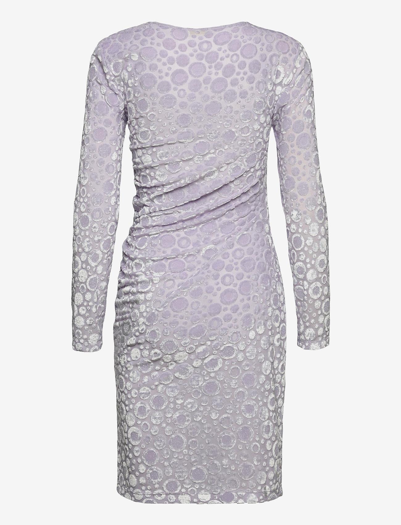 STINE GOYA - Moa, 1087 Velvet Devoré - stramme kjoler - dots lilac - 2