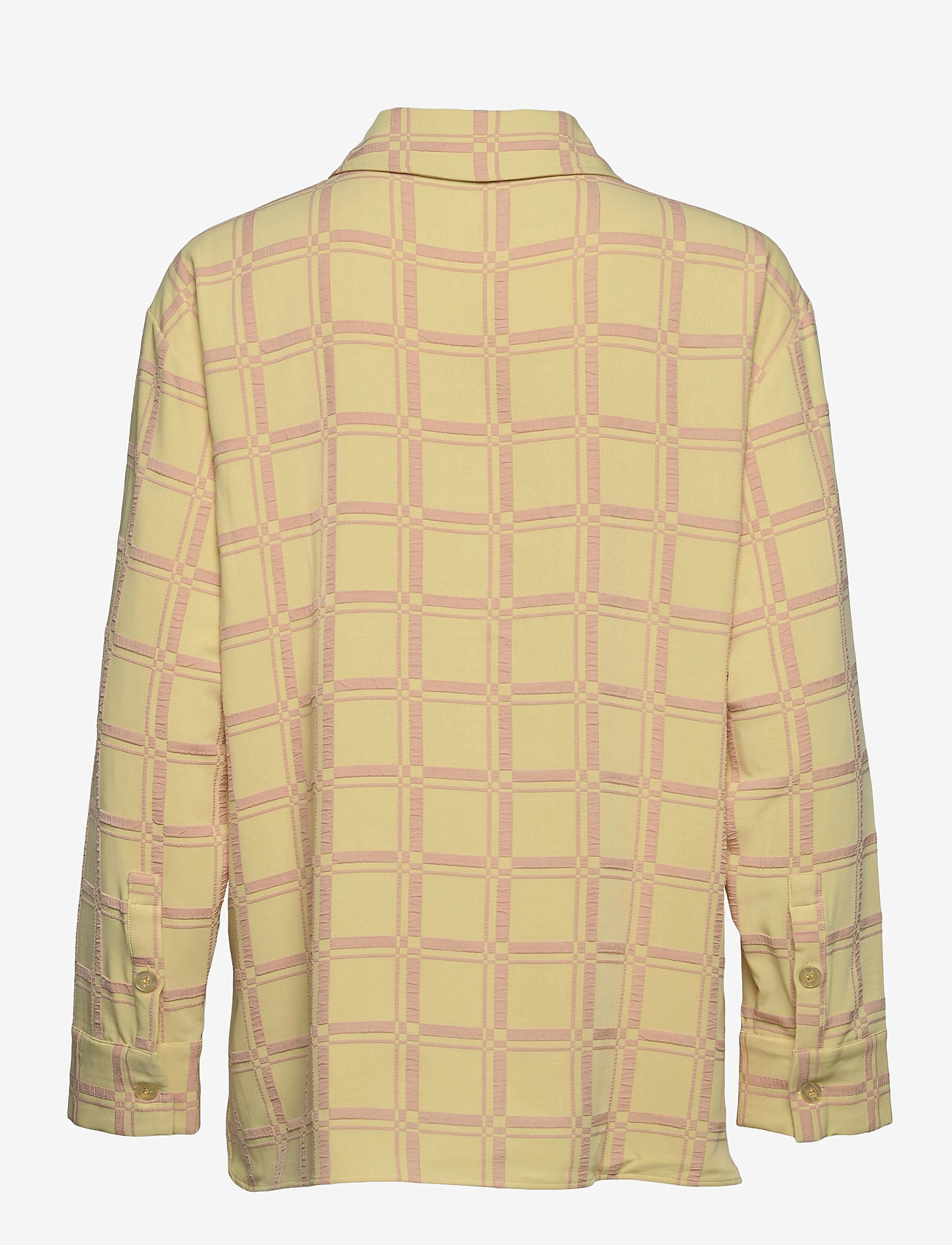 STINE GOYA - Silvi, 1091 Grid Stretch - långärmade skjortor - grid fog - 1