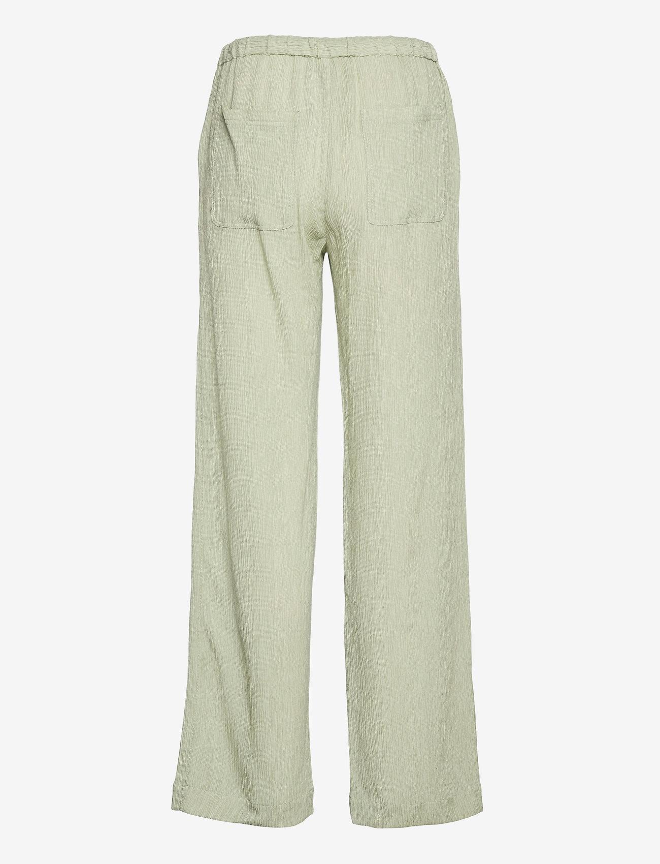 STINE GOYA - Gulcan, 1143 Crinkled Tencel - bukser med brede ben - sage - 2