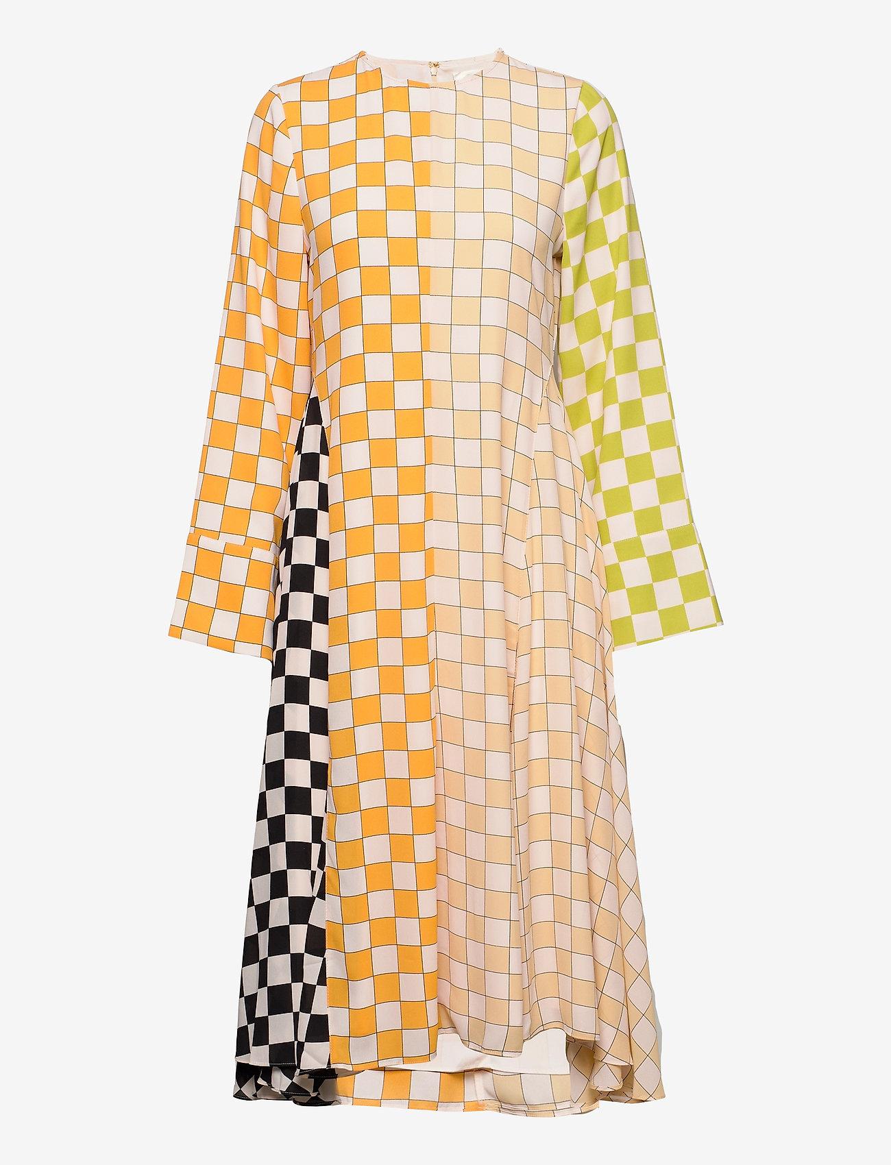STINE GOYA - Alisha, 1108 Checks Mix - midi kjoler - checks - 1