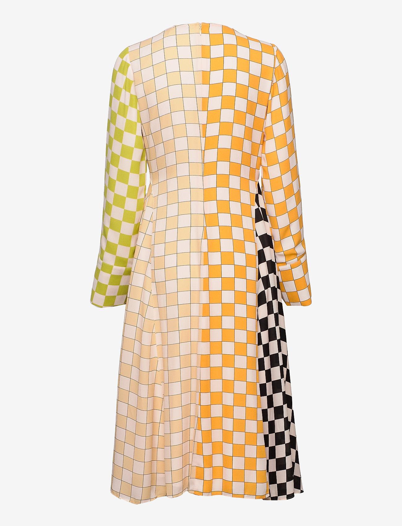 STINE GOYA - Alisha, 1108 Checks Mix - midi kjoler - checks - 2