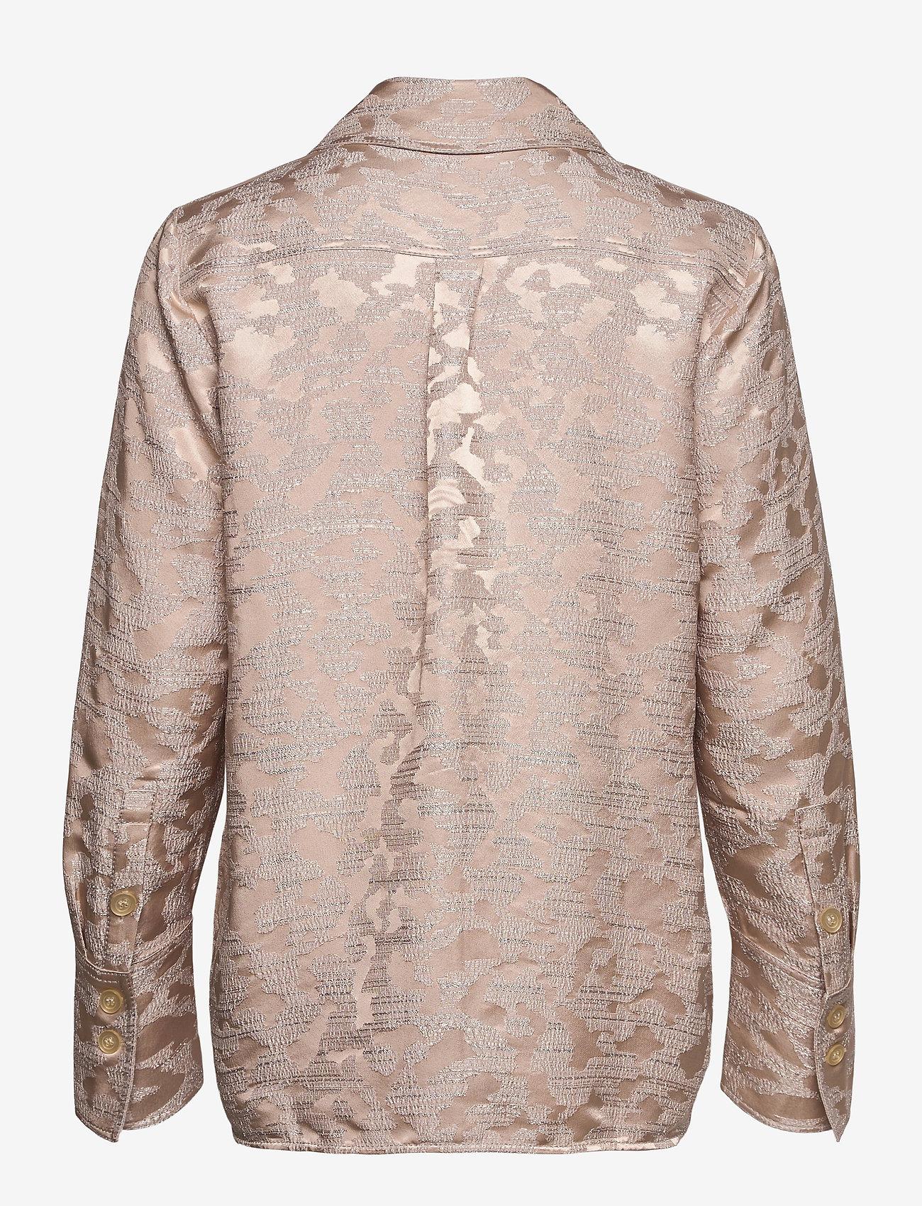 STINE GOYA - James, 1099 Viscose Jacquard - langærmede skjorter - distortion - 1