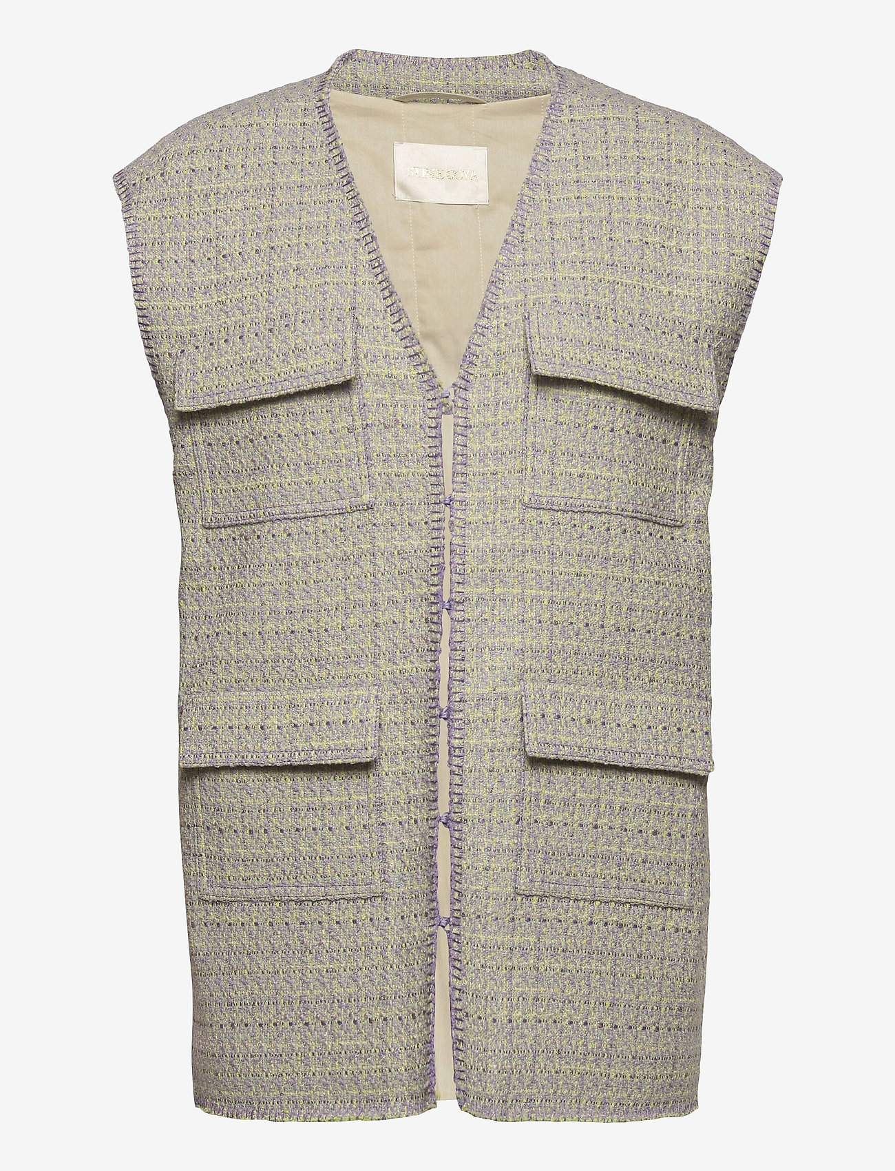 STINE GOYA - Leona, 1120 Boucle - knitted vests - lilac - 0
