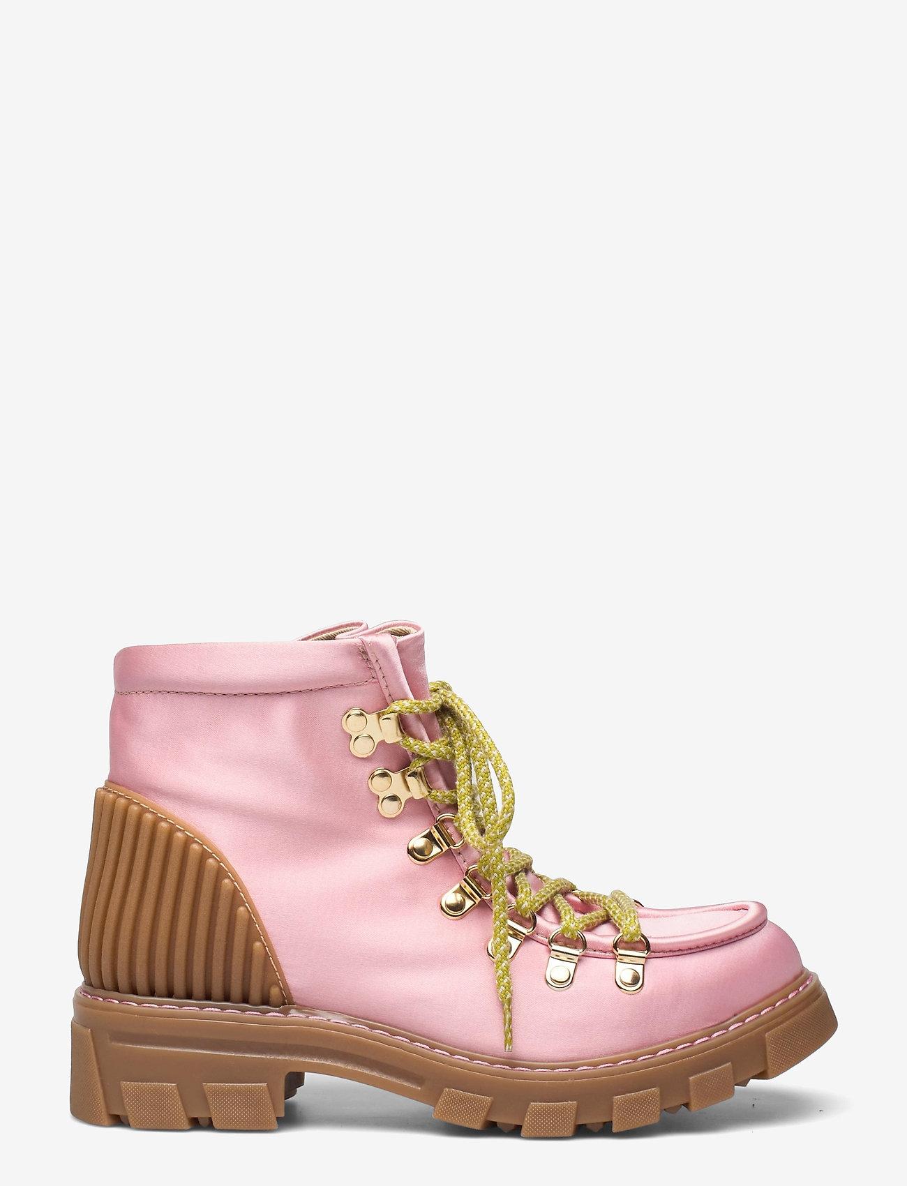 STINE GOYA - Vera, 1154 Satin Boots - flade ankelstøvler - pink - 1