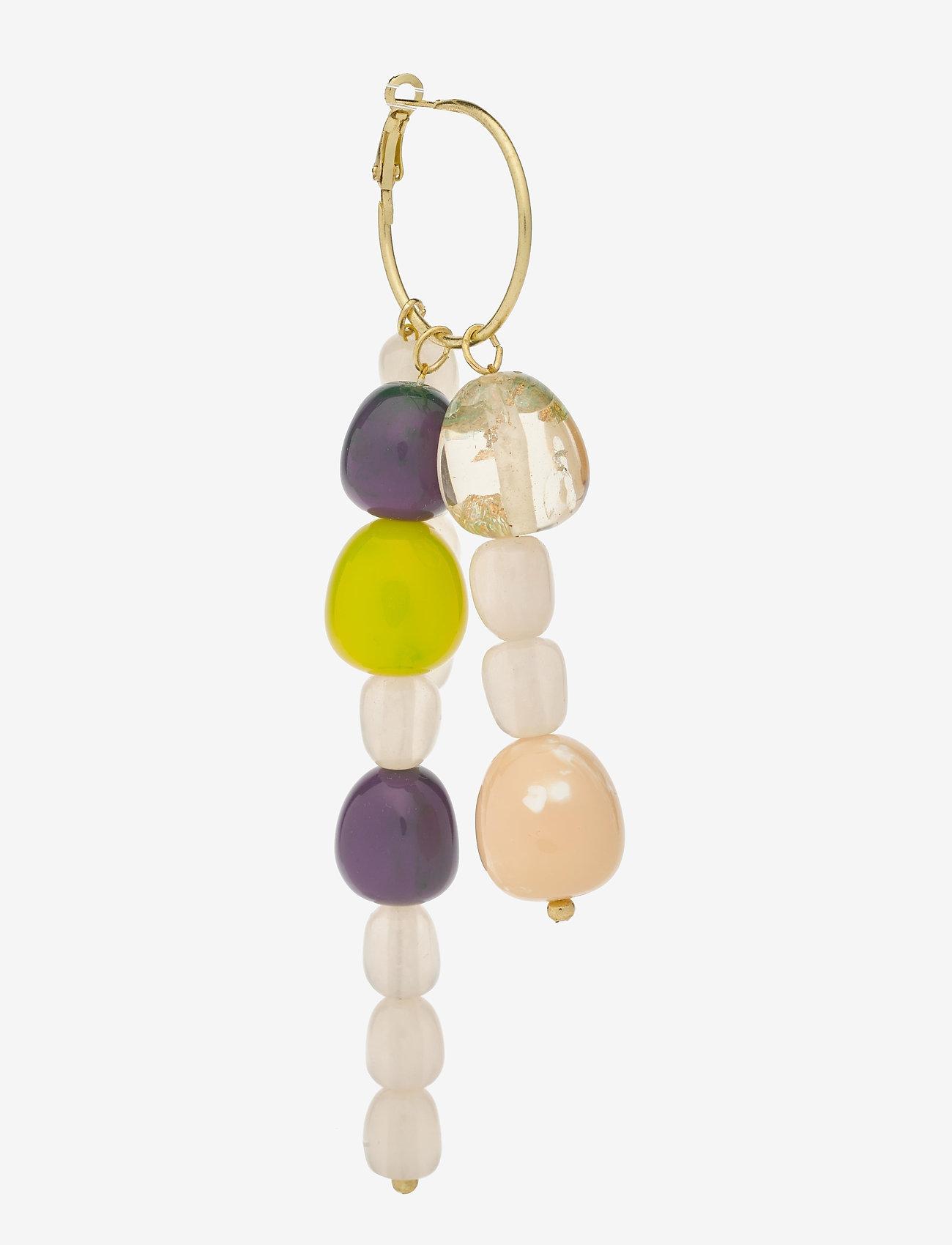 STINE GOYA - Bobby, 1135 Jewelry - hängande örhängen - lime - 1