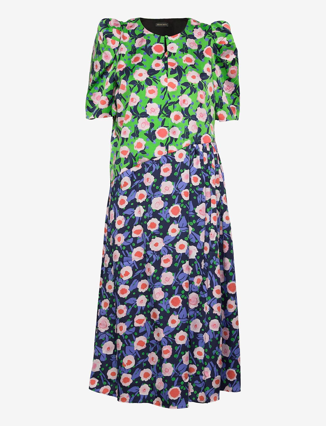 STINE GOYA - Kori, 1169 Textured Poly - sommerkjoler - flowermarket mix - 0