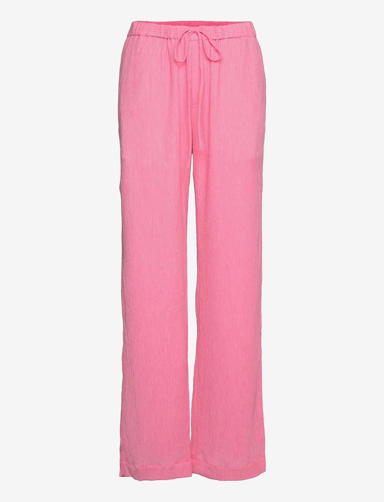 STINE GOYA - Gulcan, 1213 Crinkled Tencel - casual bukser - pink - 0