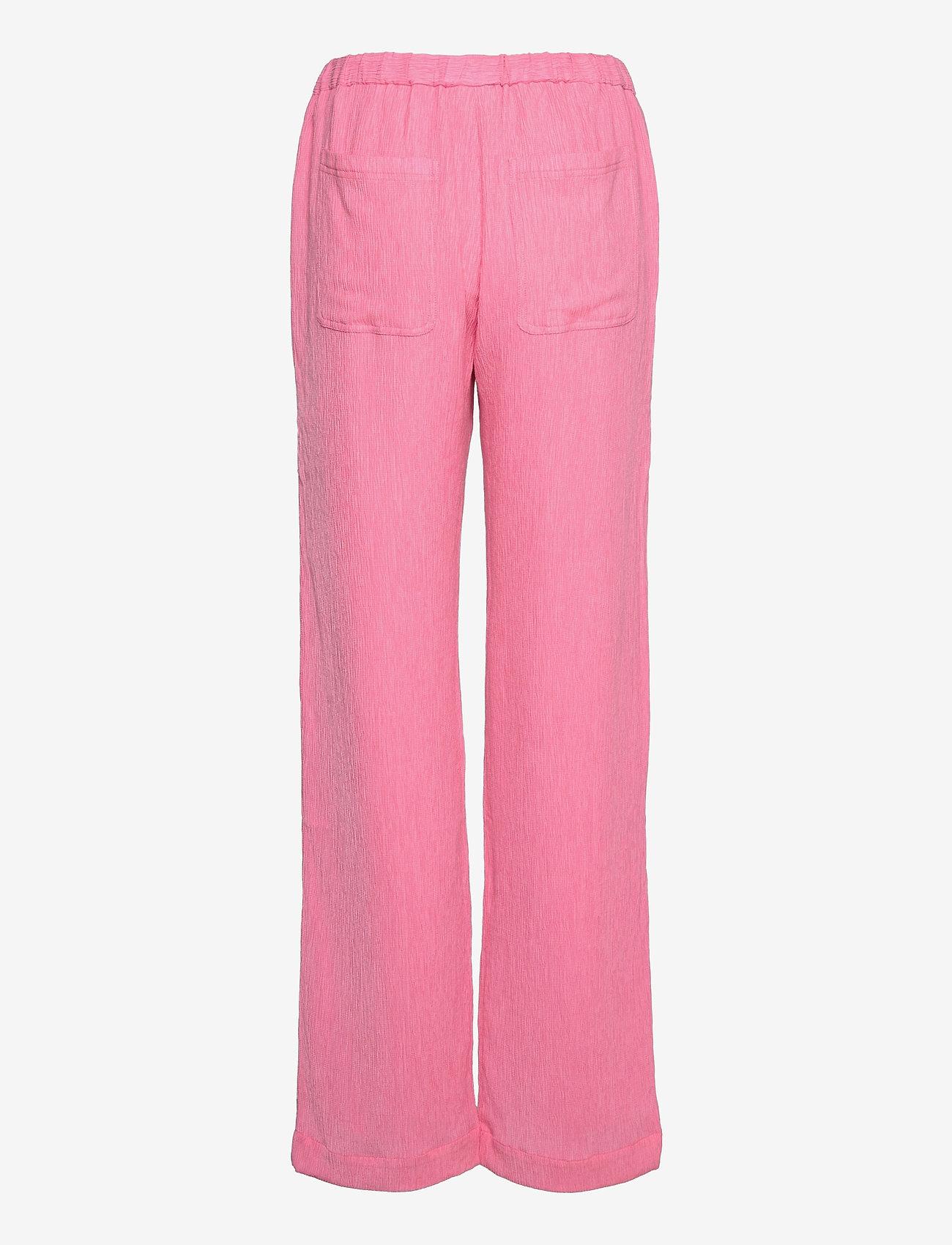 STINE GOYA - Gulcan, 1213 Crinkled Tencel - casual bukser - pink - 1