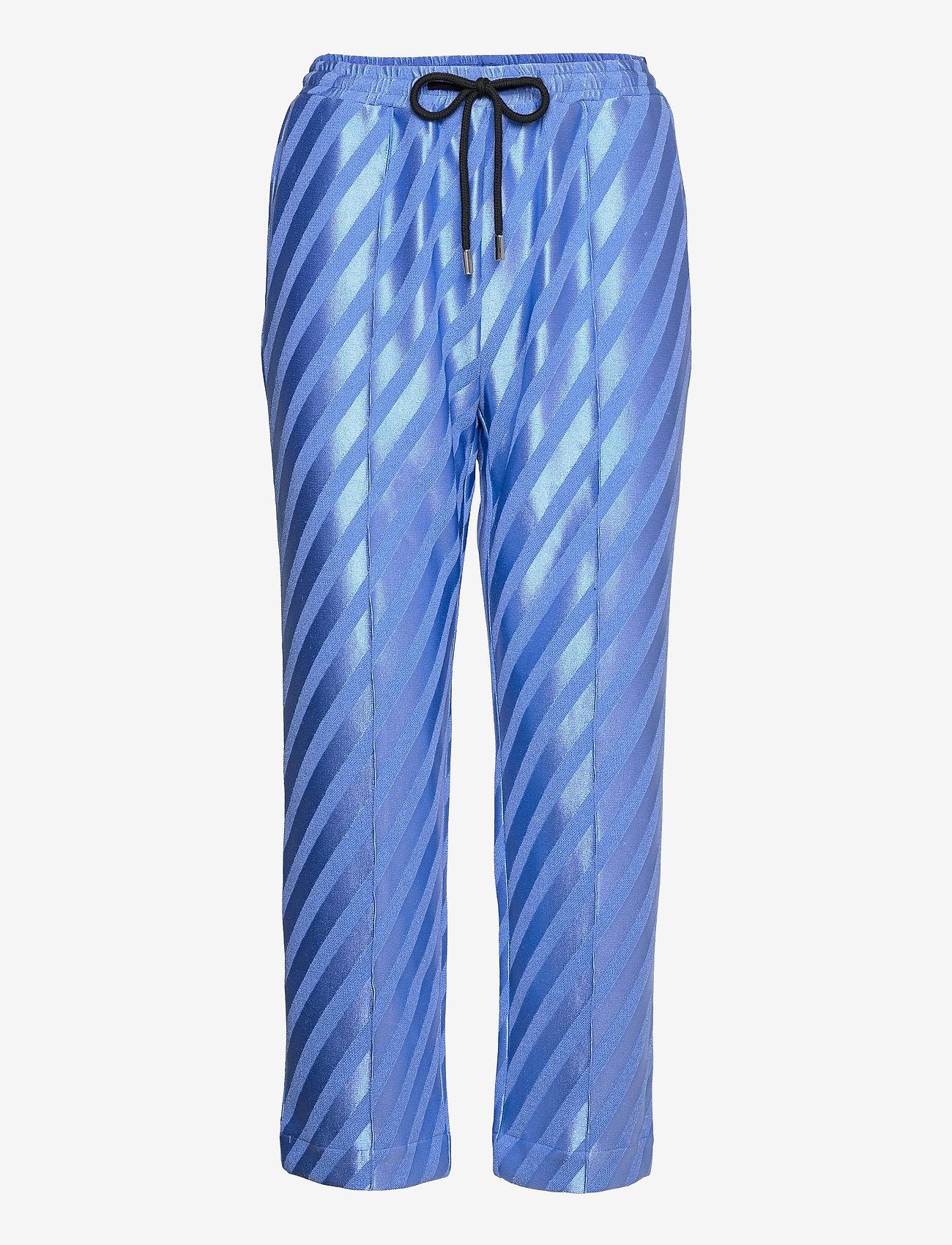 STINE GOYA - Uili, 1160 Stripe Jersey - casual bukser - stripes blue - 0