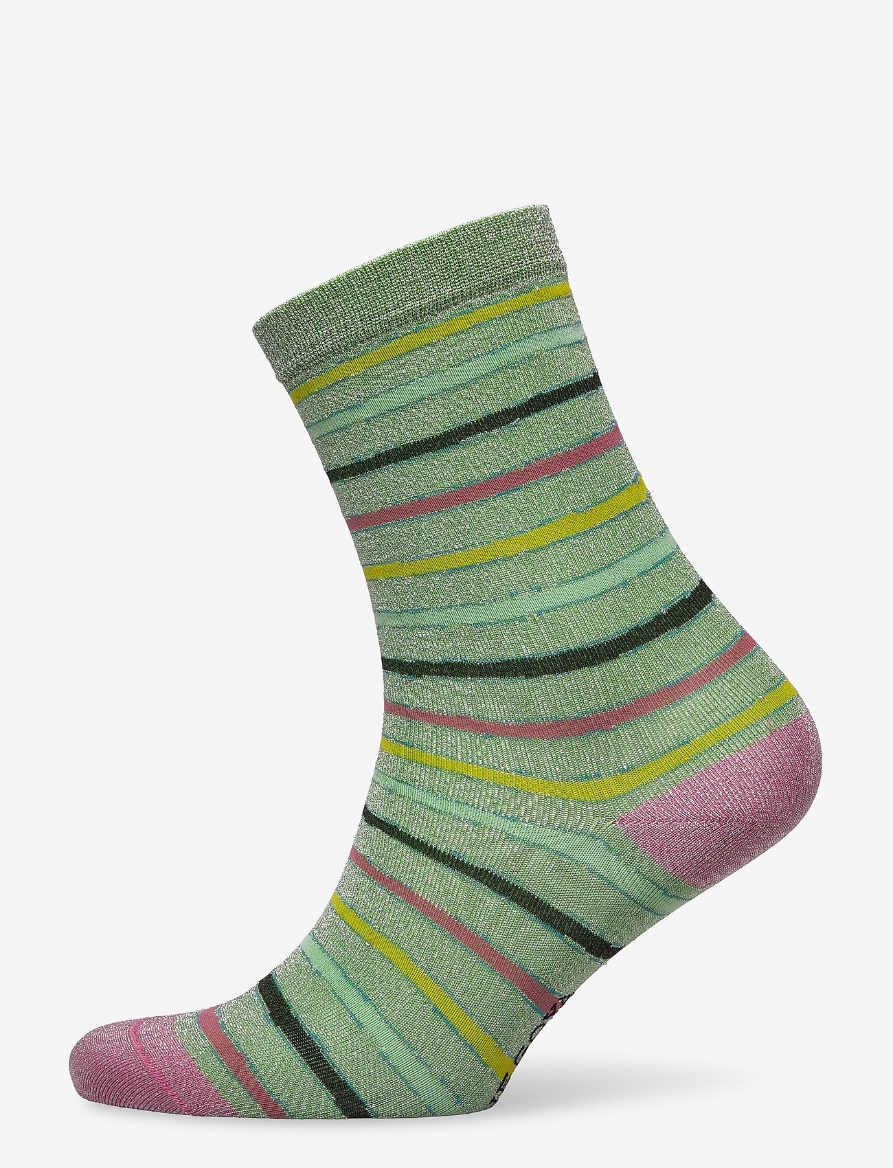 STINE GOYA - Caty, 1203 Socks - almindelige strømper - stripes green lurex - 0