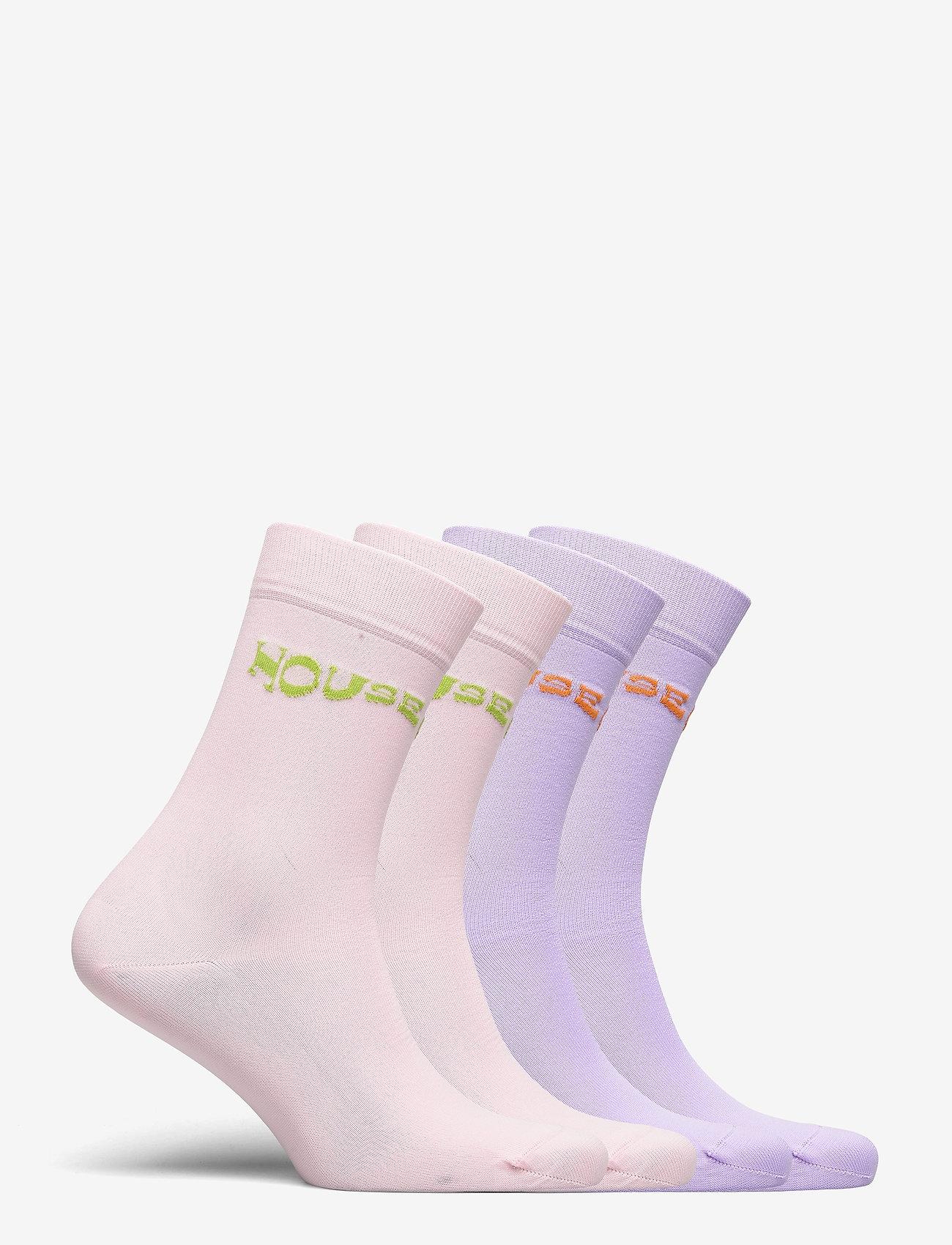 STINE GOYA - Leira, 1207 Rib Socks - almindelige strømper - lilac pink - 1
